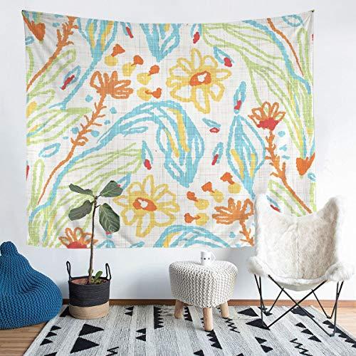 Tapiz de pared floral exótico para colgar en la pared para niños y niñas, elegante bordado de flores, tapiz de lujo para pared de dormitorio, sala de estar, 152 x 228 cm