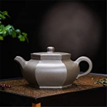 PengCheng Pang teapot Famous Handmade schungite ore Segment Hexagonal Water Flat (Color : Grey)