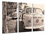 Cuadros Camara Poster Fotográfico Furgoneta volkswagen vintage sepia Tamaño total: 97 x 62 cm XXL; Multicolor