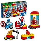 LEGO DUPLOSuperHeroes Marvel IlLaboratoriodeiSupereroi con l'Uomo Ragno,IronmaneCapitanAmerica,Set per Bimbi di 2 Anni, 10921
