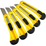 Katzco Retractable Utility Knife Set - 5 Pack - 6 Inch - Heavy Duty Carbon Steel...
