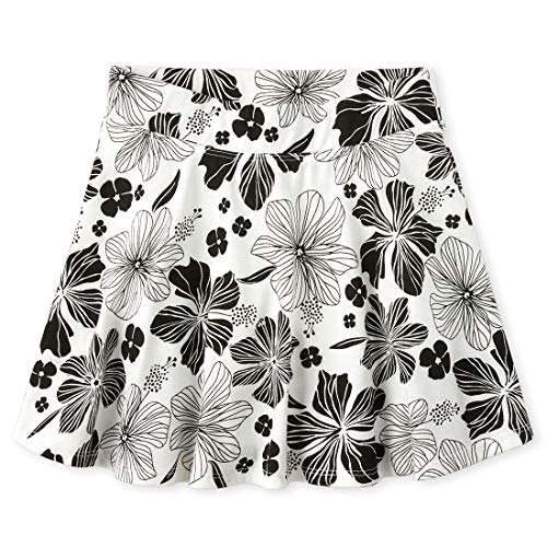 The Children's Place Girls' Printed Pleated Skorts, Simplywht, S (5/6)