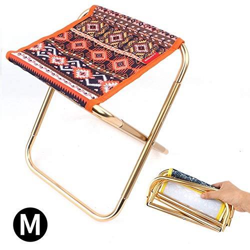 Chaise Extérieur Petit Tabouret Pliant en Aluminium Alliage Adulte Mini-Camp de Portable Chaise de pêche Barbecue Pique-Nique siège de la Plage Voyage (Color : B)