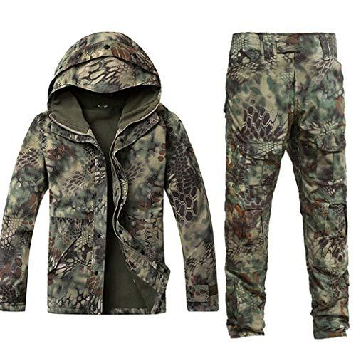 Armee Grün Camouflage Plus Samtanzug, Special Forces Tactical Suit Camo Jagdanzug für Outdoor Hidden Jagd Angeln Camping Abenteuer Reiten Männer und Frauen gelten (größe : S)