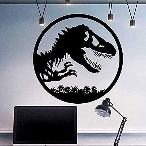 TJVXN Vinilo Autoadhesivo Impermeable Etiqueta de la Pared Parque Dinosaurio Mundo Chica Dormitorio Mural Estudio Etiqueta de la Pared Cartel extraíble decoración del hogar 42X42Cm