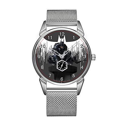 Orologio da uomo alla moda, in acciaio inox, impermeabile, di alta qualità, orologio da uomo, orologio da uomo Batman, orologio da polso a colonna