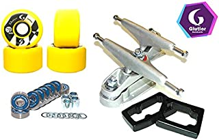 Glutier Set Surfskate Trucks T12 70mm 78a Yellow...