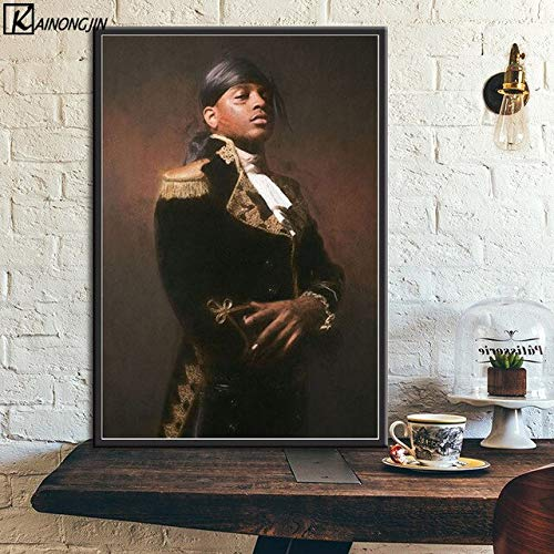 shuimanjinshan Posters and Prints Ski Mask and XXXtentacion Jahseh Dwayne Onfroy Art Silk Wall Poster Room Decorative Picture Home Decor 50x70cm No frame F477