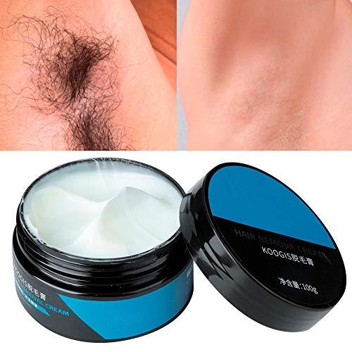 100 g Haarentfernungscreme, Enthaarungscreme, natürliche schmerzfreie dauerhafte Lotion zur Entfernung dicker Haare mit Kunststoffschaber für die Arm Bikini Linie Beine und Unterarm