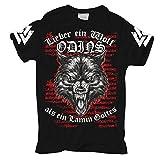 Life Is Pain Männer und Herren Tshirt Wikinger Wolf Odins