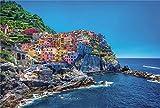 Super Power® Dreamy 1000 Pedazos Italia Cinque Terre Europeo Pueblo Costero Mar Paisaje Niños Juegos de Adultos Juguetes Rompecabezas de Madera para Regalos de cumpleaños de Navidad
