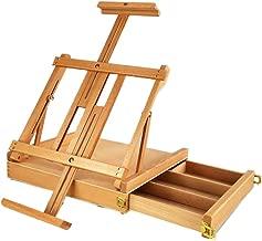 ZYHA Tischstaffelei DREI Schicht Holz Schublade Staffelei Desktop Desktop Speicher Holz kann von Hand bemalt 8 offene K Leinwand Regal Kinder Erwachsenen Malerei Skizze angehoben Werden