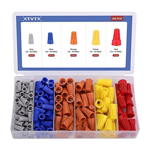 XTVTX 360 piezas Conectores de cable T-tap...