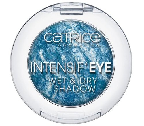 Catrice Cosmetics Intensif´Eye Wet & Dry Shadow Baked Eyeshadow gebackener Lidschatten Nr. 070 Dr. Bluelittle Farbe: Dunkelblau / Hellblau / Weiss mit Glanz Inhalt: 0,8g Lidschatten für strahlend schöne Augen