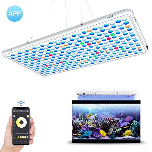 Relassy LED Aquarium Light Panel- APP Control Full Spectrum LED Coral Reef Light Panel for Saltwater Freshwater Fish Tank with AUTO ON/Off Timer & Dimmable