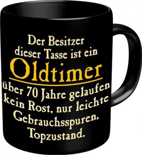 Rahmenlos-Design Tasse: Oldtimer 70 Kaffeebecher im Geschenkkarton