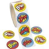 Paquet de 100 - Superhero thème Autocollants - Idéal pour les X-Men, Spiderman, Marvel...