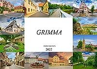 Grimma Impressionen (Wandkalender 2022 DIN A2 quer): Die Stadt an der Mulde, Grimma (Monatskalender, 14 Seiten )