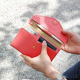 Adebie - Travel Passport Cover Wallet Travel Bag Multifunction Purse Credit Card Package ID Holder Storage Organizer Clutch Money Bag Red []