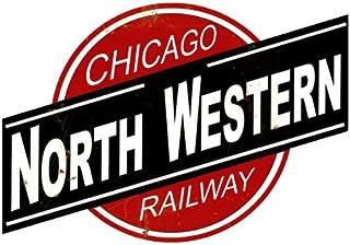 Chicago Northwestern Logo Herald Sign Tin Vintage Style Railroad Herald Signs