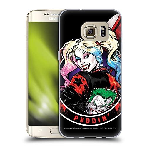Head Case Designs sous Licence Officielle Batman DC Comics Puddin Harley Quinn Graphiques Coque en Gel Doux Compatible avec Samsung Galaxy S7 Edge