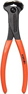 KSEIBI 141150 End Cutting Nippers PVC Pattern 7 Inch Grip Handle Black Finish Chrome Vanadium Steel Carpenter Pincer Wire Cutter Pliers