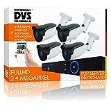 DVS Germany - Videoüberwachungsanlage Starterset für Haus & Wohnung - Premium-Sicherheitslösung - DVLC-LMSET4 - ohne Festplatte