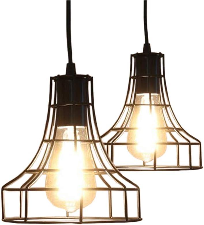 2-Pack E26 trend rank Vintage Metal Cage Chandelier Lamps Pendant Japan's largest assortment Lighting