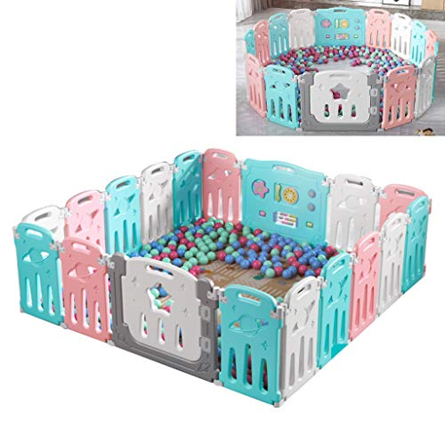 Affordable Foldable Kids Activity Center Playards - with Games & Safe Gates for Infants Indoor and O...