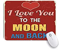 ECOMAOMI 可愛いマウスパッド I Love You Vintage Nostalgic Print 滑り止めゴムバッキングマウスパッドノートブックコンピュータマウスマット