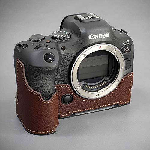 【日本正規販売店】 LIM'S Canon EOS R6 専用 イタリアンレザー カメラケース Brown ブラウン メタルプレート 高級 本革 おしゃれ かっこいい CN-EOSR6BR リムズ