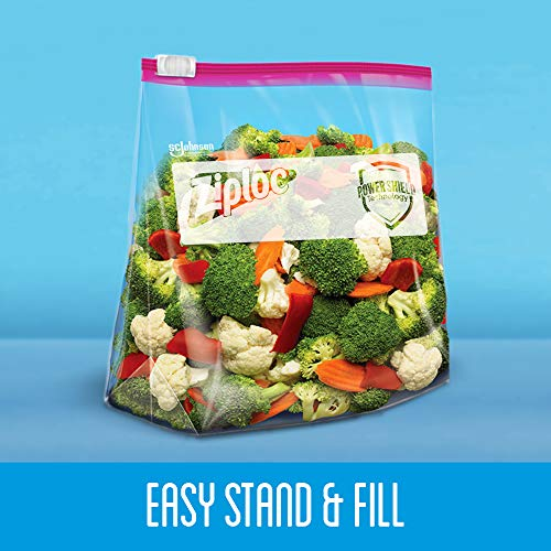 Ziploc Slider Storage Bags with New Power Shield Technology, For Food, Sandwich, Organization and More, Gallon, 26 Count, Pack of 4 (104 Total Bags)