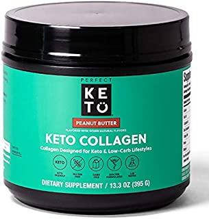 Perfect Keto Collagen Protein Powder with MCT Oil - Grassfed, GF, Multi Supplement, Best for Ketogenic Diets, Use as Keto ...