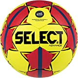 SELECT Advance Ballon de Handball Unisexe pour Adulte 2 Jaune, Rouge, Bleu.