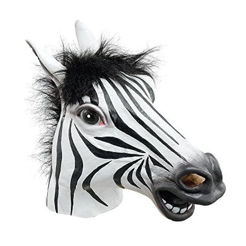 Bristol Novelty- Maschera Zebra, Colore Nero, Taglia Unica, BM342