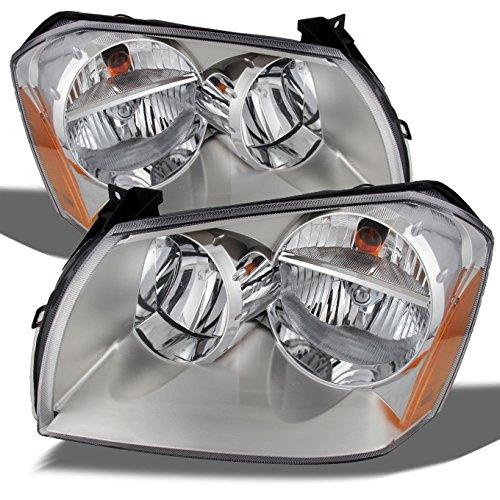 AKKON - For Dodge Magnum OE Replacement Chrome Bezel Headlights Driver/Passenger Head Lamps Pair New