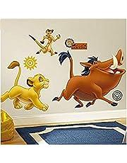 WTQang Muurstickers Lion King gigantische muurstickers, vinyl, veelkleurig, 63,5 cm LX 48,3 cm B