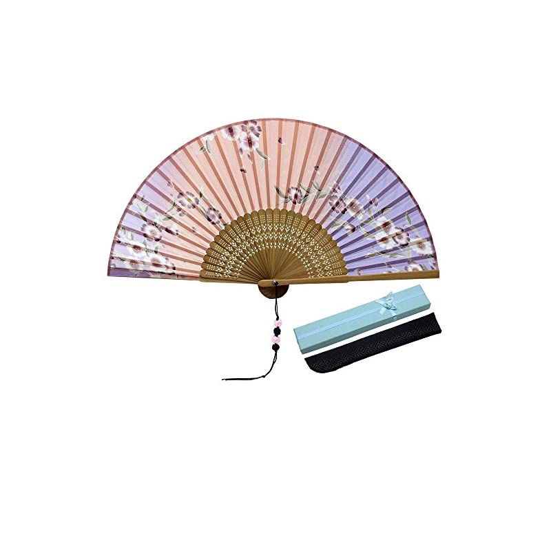 silk flower arrangements jsswb flower fall painting ombre colored silk bamboo fans with cover case