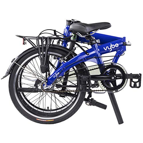 "Dahon VYBE I3 Folding Bike, Lightweight Aluminium Frame 3-Speed Shimano Gears 20"" Foldable Bicycle for Adults, Blue"