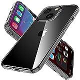 iPhone 13 ケース TPUバンパー + 背面PC スマホケース iPhone13 クリアケース Arae ワイヤレス充電対応 耐衝撃 四隅滑り止め ストラップホール付き 薄型 アイフォン 13 6.1インチ 2021新型 適応用 透明 カバー 内エアクッションコーナー