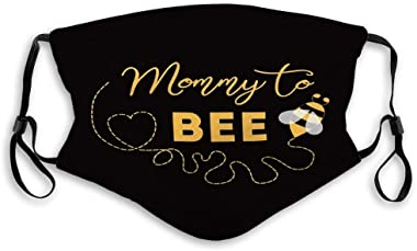 ETHAICO Fillter Cloth for Adult and Kids,Baby Shower Invitation Text Mommy to Bee Cute Card Mothers Day Bees,Reusable Windpro