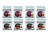 Tassimo Latte Selection - Costa Latte/Costa Caramel Latte/L Or Latte Macchiato/L Or Latte Macchiato Caramel pods - 8 Packs (64 Drinks)