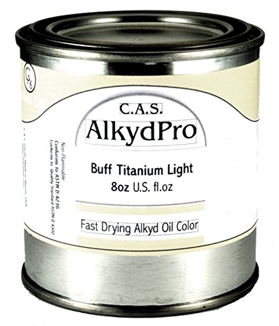 C.A.S. Paints AlkydPro Fast-Drying Oil Color Paint Can, 8-Ounce, Buff Titanium Light