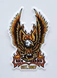 StyleMoca Rock Harder Eagle Sticker Premium Quality Matte Waterproof Vinyl Stickers for Water Bottles, Tumblers, Cars, Snowboards, Laptops, and More