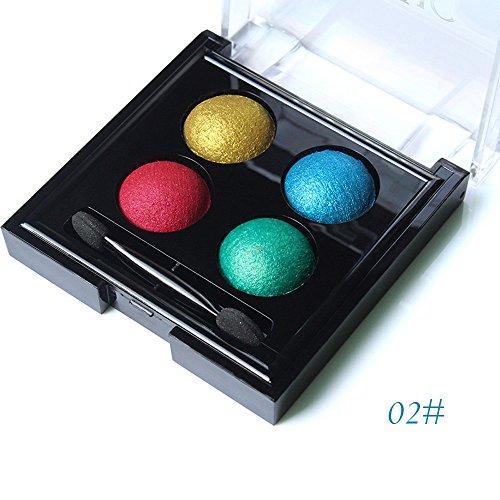 Momoxi Lidschatten,Augen Make-up Augenbrauenstift 4 Farben Matte Lidschatten-Palette Schimmer Lidschatten Highlight Kosmetik Make-up