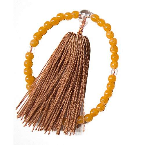 【数珠 子供用】おこさま京念珠 (オレンジ/プラスチック製) すべての宗派で使える京念珠 (l178-1)