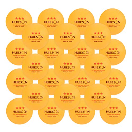 Huieson 50-Pack 3 Star 40+ Table Tennis Balls with Seam Advanced ABS...