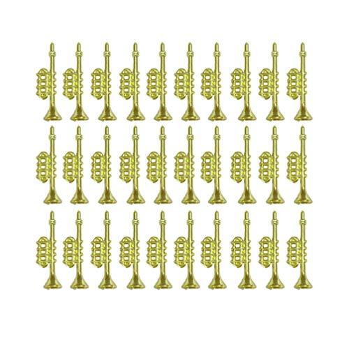 Garneck 60 Stück Weihnachtliche Musik-Horn-Dekoration, Trompeten-Ornamente, goldene Weihnachtsbaumdekoration