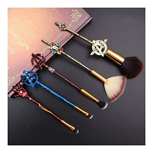 Pinceaux De Maquillage Ensemble Style Rétro 5pcs Vengeurs Thanos Main For Poudre Fard À Paupières Pinceaux À Sourcils Outil Kit (Handle Color : Marvel 5pcs)