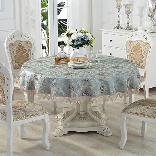 YUBIN Action de Grâces tafelkleed, rond, elegant, nieuw jaar lente, herfst, voor ronde tafelkleed, feestjes, Kerstmis, 60/70/90/110 inch 85 inch Een